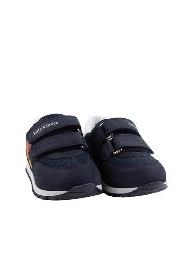 Kids A More Carl Çift Cırtlı Deri Ve Air File Detaylı Erkek Bebek Sneaker  Lacivert